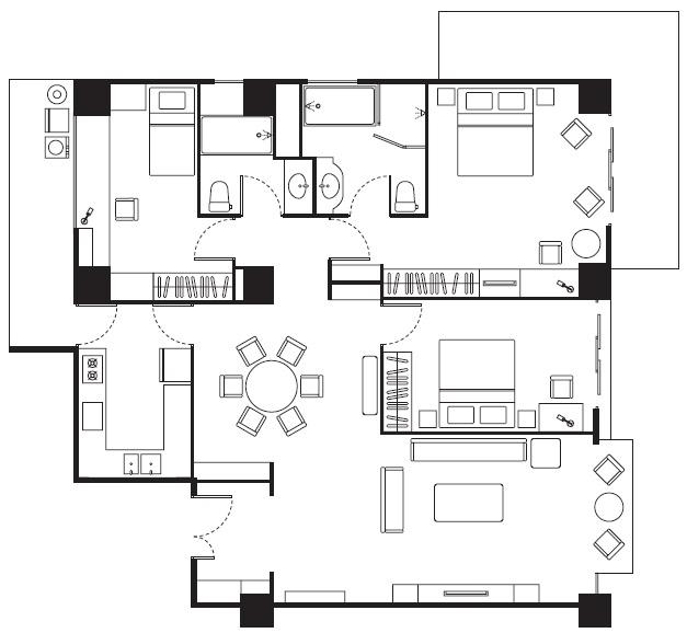 天母傑仕堡- 溫馨家庭房
